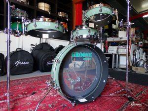 Custom paint over Mahogany - Pancake Drums