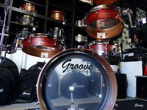 Padauk over Mahogany - Pancake Drums